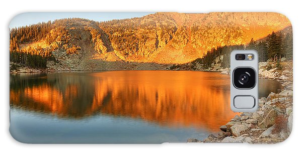 Lake Katherine Sunrise Galaxy Case by Alan Ley