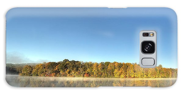 Lake Logan Fall Panorama Galaxy Case