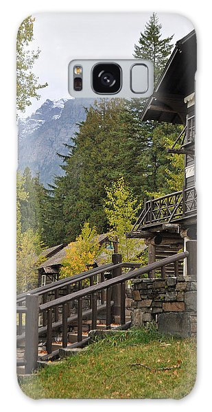 Lake Mcdonald Lodge In Glacier National Park Galaxy Case