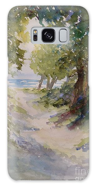 Lake Michigan Beach Path Galaxy Case