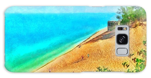 Lake Michigan Overlook On The Pierce Stocking Scenic Drive Galaxy Case