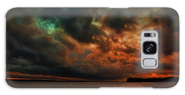 Lake Murray Fire Sky Galaxy Case