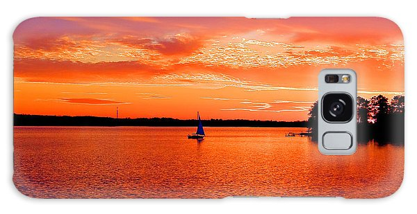 Lake Murray Sunset Galaxy Case