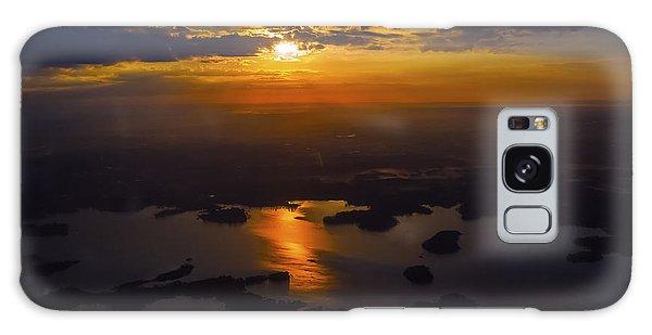 Lake Norman Sunrise Galaxy Case by Greg Reed