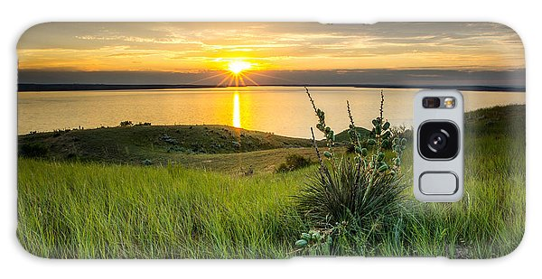 Lake Oahe Sunset Galaxy Case