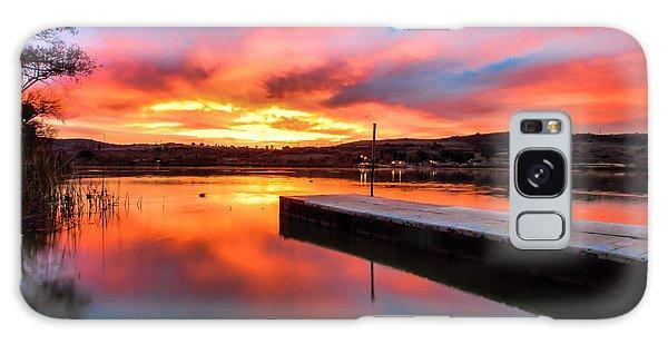 Lake Oneil Sunset Galaxy Case by Robert  Aycock