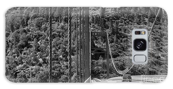 Lake Oroville Bridge Black And White Galaxy Case