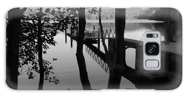 Lake Padden Reflection In Black And White Galaxy Case