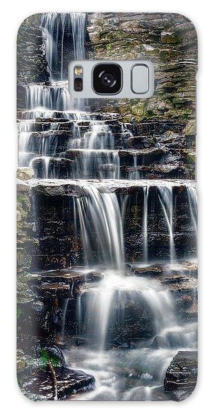 Lake Park Waterfall Galaxy Case