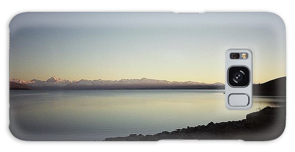 Lake Pukaki First Light Galaxy Case by Peter Mooyman