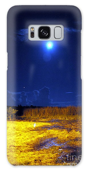 Moonrise Over Rochelle - Portrait Galaxy Case