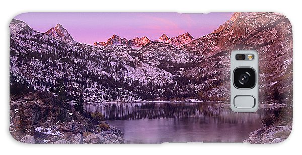 Lake Sabrina Sunrise Eastern Sierras California Galaxy Case by Dave Welling