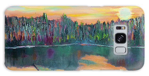 Lake Schwartzwood Sunset Galaxy Case by Michael Daniels