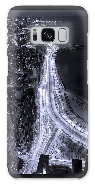Lake Shore Drive Aerial  B And  W Galaxy Case