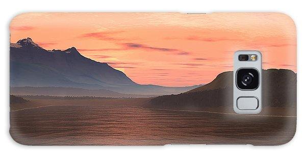 Lake Sunset 1 Galaxy Case
