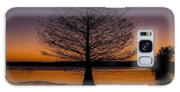 Lake Sunset Galaxy Case by Amber Kresge