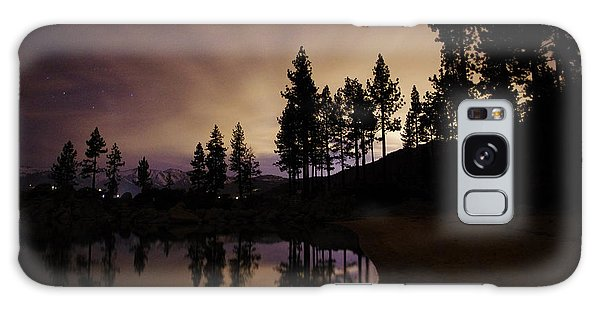 Lake Tahoe Sand Harbor Silhouette Galaxy Case