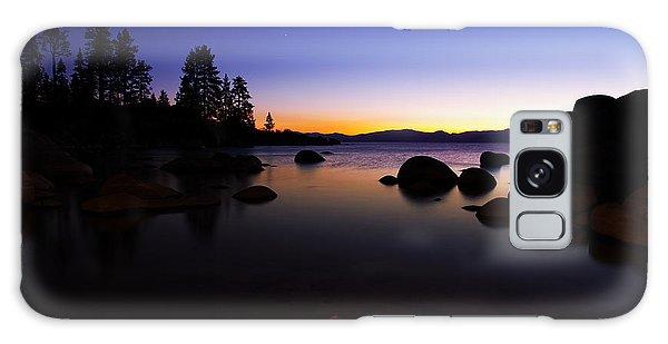 Lake Tahoe Sand Harbor Sunset Silhouette Galaxy Case