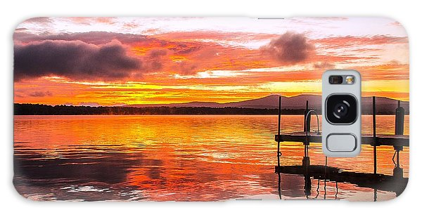 Lake Winnisquam Sunrise Galaxy Case