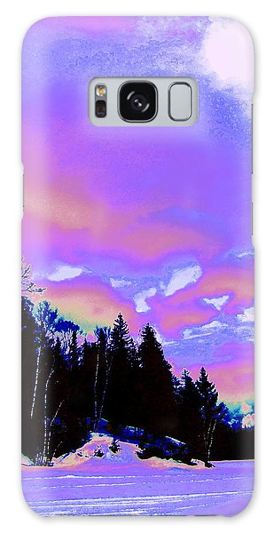 Winter  Snow Sky  Galaxy Case by Expressionistart studio Priscilla Batzell