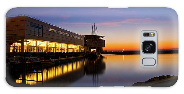 Lakefront Sunrise Galaxy Case by Jonah  Anderson