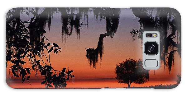 Lakefront Sunset Galaxy Case