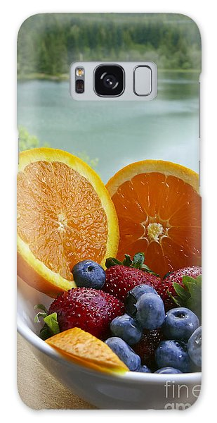 Lakeside Fruit Bowl Galaxy Case by Maria Janicki