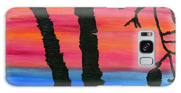 Lakeview Sunset Galaxy Case by Vadim Levin