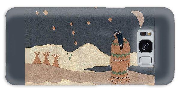 Lakota Woman With Winter Constellations Galaxy Case