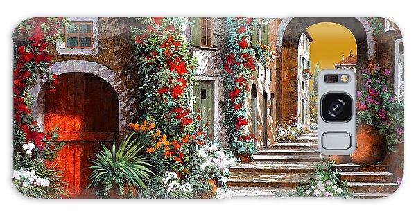 Door Galaxy Case - L'altra Porta Rossa Al Tramonto by Guido Borelli