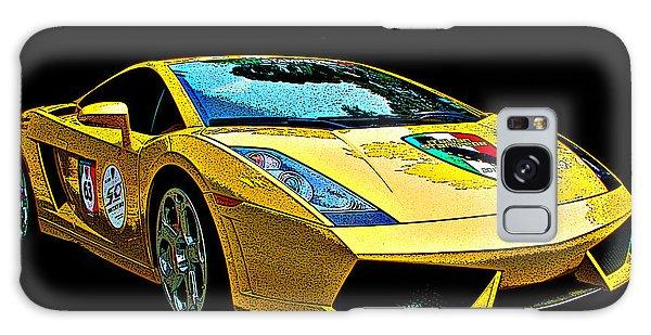 Lamborghini Gallardo 3/4 Front View Galaxy Case by Samuel Sheats