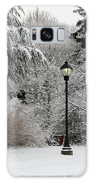 Lamp Post In Winter Galaxy Case
