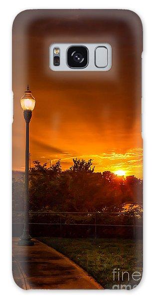 Lamp Post Sunset Galaxy Case