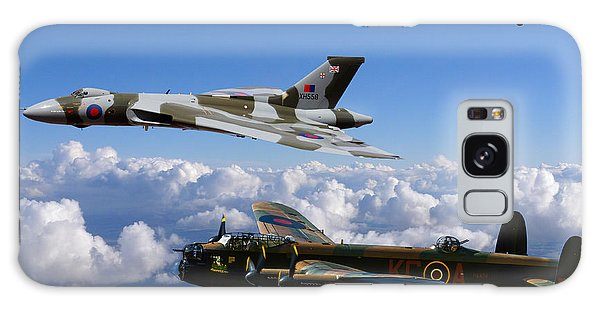 Lancaster Bombers And Vulcan Xh558 Galaxy Case by Ken Brannen