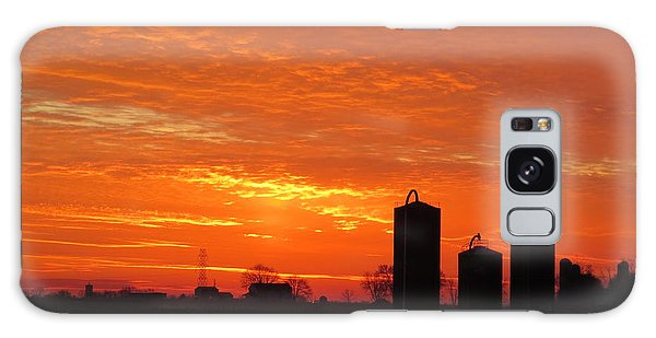 Lancaster County Sunset Galaxy Case by Jeanette Oberholtzer