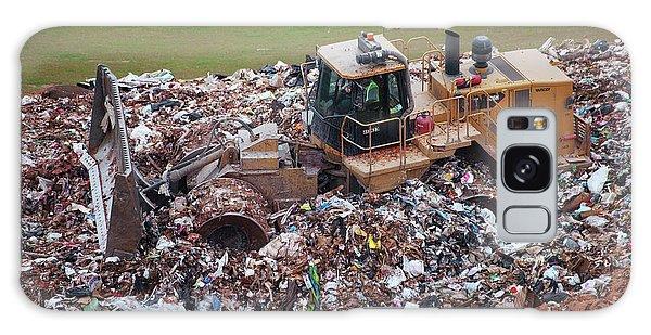 Rubbish Bin Galaxy Case - Landfill Waste Disposal Bulldozer by Peter Menzel