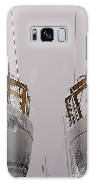 Landlocked On A Foggy Day Galaxy Case
