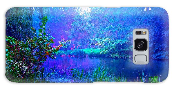 Blue Landscape Galaxy Case