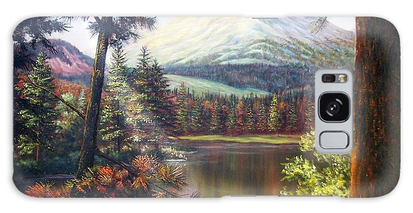 Landscape-lake And Trees Galaxy Case