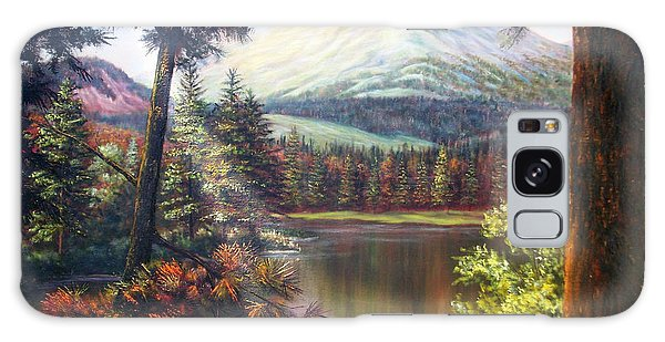 Landscape-lake And Trees Galaxy Case by Loxi Sibley