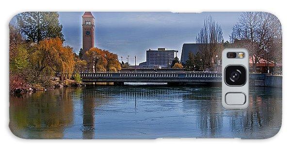 Landscape Of Spokane Wa Riverfront Park  Galaxy Case by Valerie Garner