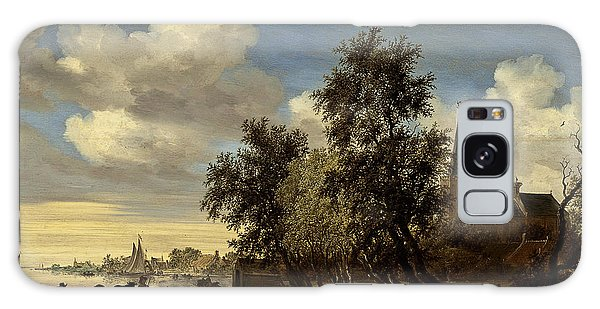 Galaxy Case featuring the digital art Landscape by Salomon van Ruysdael