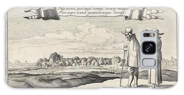 Pasture Galaxy Case - Landscape With A Peasant Couple, Jan Van De Velde II by Jan Van De Velde (ii) And Anonymous And Claes Jansz. Visscher (ii)