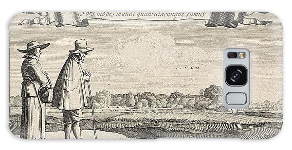 Pasture Galaxy Case - Landscape With A Peasant Couple, Jan Van De Velde II by Jan Van De Velde (ii) And Claes Jansz. Visscher (ii)