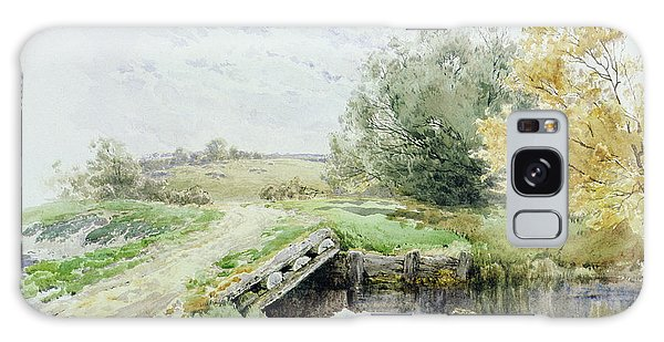 Clayton Galaxy Case - Landscape With Bridge Over A Stream by John Clayton Adams