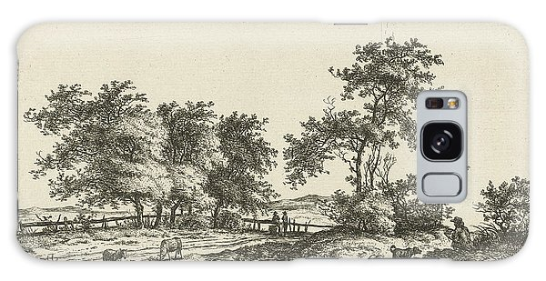 Pasture Galaxy Case - Landscape With Cartoonist And Dog, Hermanus Fock by Hermanus Fock