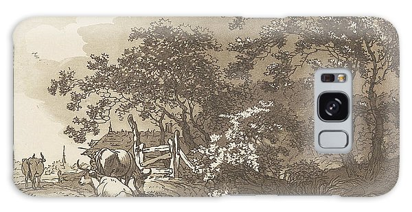 Pasture Galaxy Case - Landscape With Cows, Hendrik Meijer, Timothy Sheldrake by Hendrik Meijer And Timothy Sheldrake