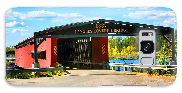 Langley Covered Bridge - Michigan Galaxy Case by Pat Cook
