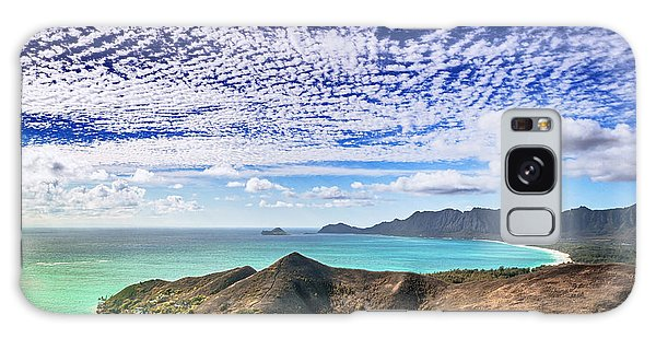 Lanikai Beach Cirrocumulus Clouds Galaxy Case