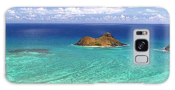 Lanikai Beach From Above Panorama Galaxy Case